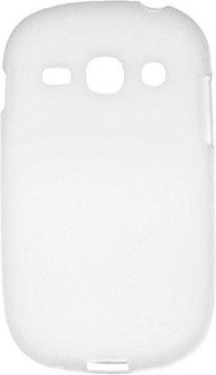 Чехол-накладка Drobak Elastic PU для Samsung S 6810 Fame White - Фото 1