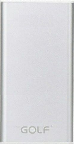 Портативная батарея GOLF Power Bank 10000 mAh GF-112 3.1A Li-pol Silver