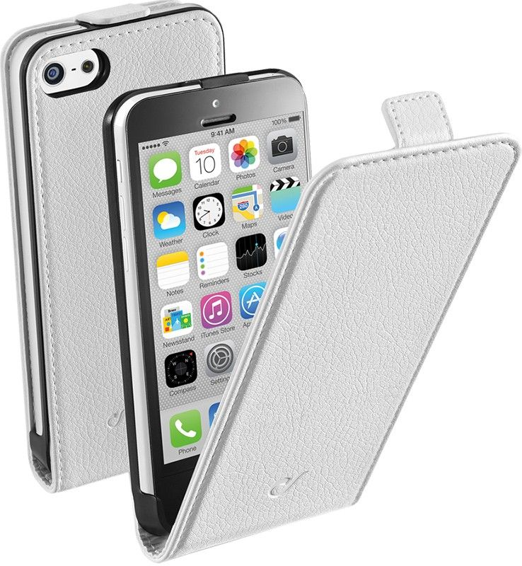 Чехол-флип Cellular Line Flap Essential для iPhone 5 White - Фото 1