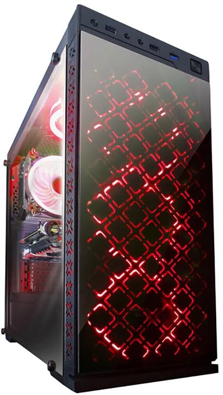 Купить Корпуса для компьютеров, Frime Illusion red led (Illusion-U3-GLS-4RDRF)