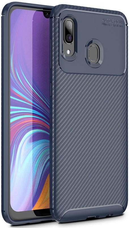 Купить Чехлы для телефонов, TOTO TPU Carbon Fiber 1, 5mm Case Samsung Galaxy M10s Dark Blue
