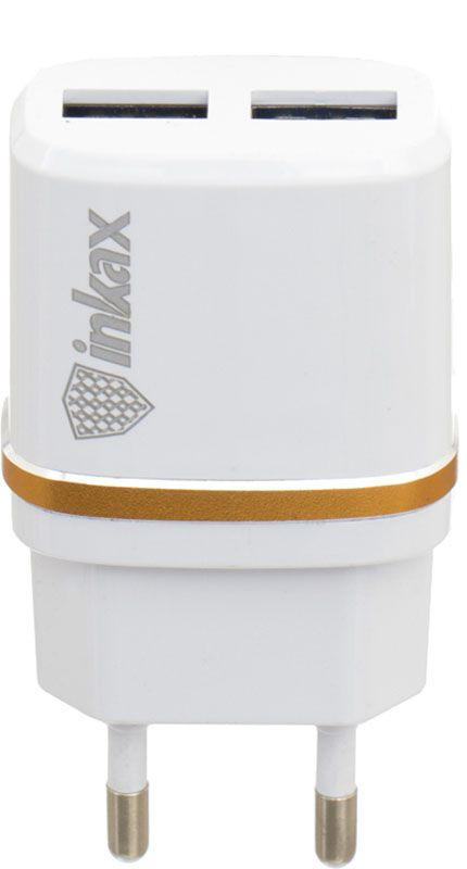 Купить Зарядные устройства, INKAX CD-11 Travel charger + Micro cable 2USB 2.4A White