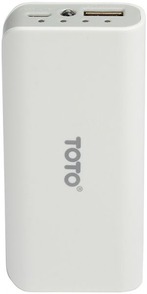 Портативная батарея TOTO TBG-82 Power Bank 4000 mAh 1USB 1A Li-Ion White
