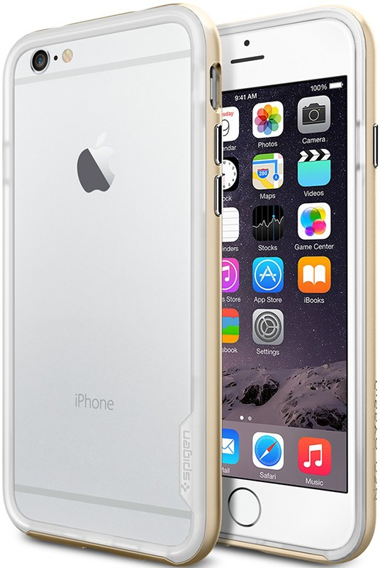 Чехол-накладка Spigen Neo Hybrid Series для iPhone 6 Champagne Gold - Фото 1