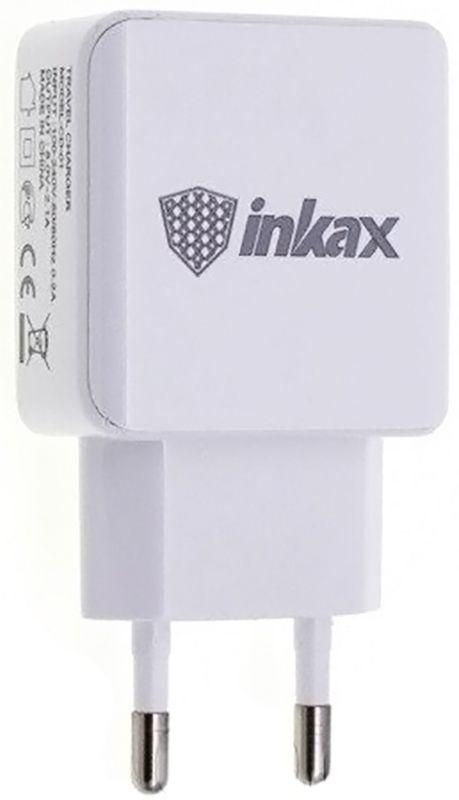 Купить Зарядные устройства, INKAX CD-01 Travel charger + Type-C cable 2USB 2.1A White