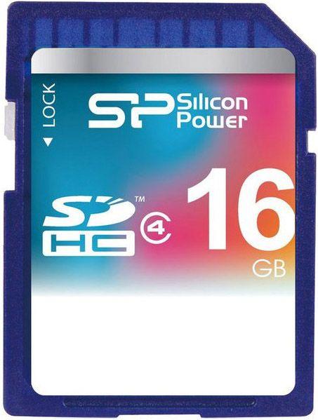 Карта памяти Silicon Power SDHC 16Gb class 4 - Фото 1