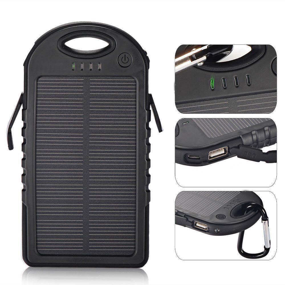 Портативная батарея TOTO ES500 Solar Power Bank 5000 mAh Black - Фото 1