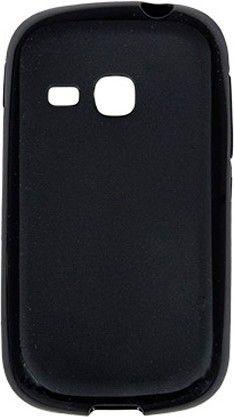 Чехол-накладка Drobak Elastic PU для Samsung Galaxy Young S6312 Black - Фото 1