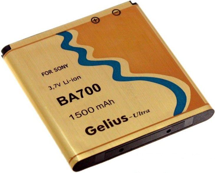 Аккумулятор Gelius BA-700 для Sony 1500mAh - Фото 1