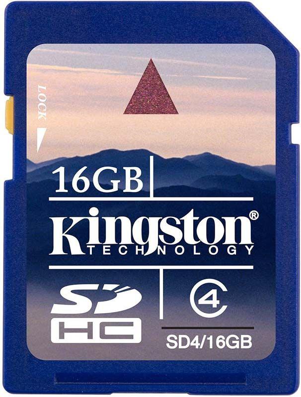 Карта памяти Kingston SDHC 16Gb Class 4 - Фото 1