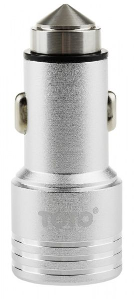 TOTO TZG-04 Car charger 2USB 2,1A Silver