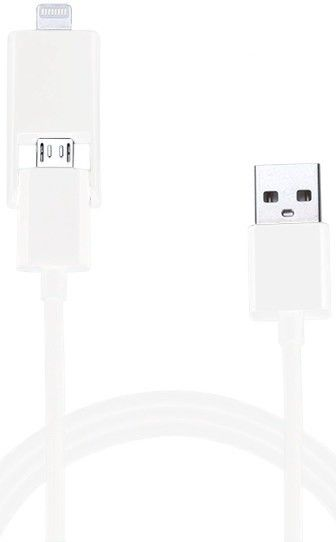 Кабель USB COMBO5-W Lightning&Micro 2in1 White - Фото 1