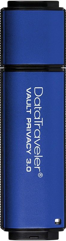USB Flash Kingston DataTraveler Vault Privacy 8Gb USB 3.0 Blue - Фото 1