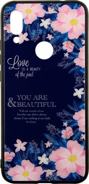 TOTO Glass Fashionable Case Xiaomi Redmi 7 Flower Blue