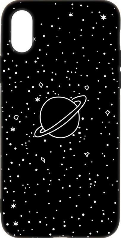 Купить Чехлы для телефонов, TOTO Cartoon Soft Silicone TPU Case Apple iPhone X/XS Saturn Black