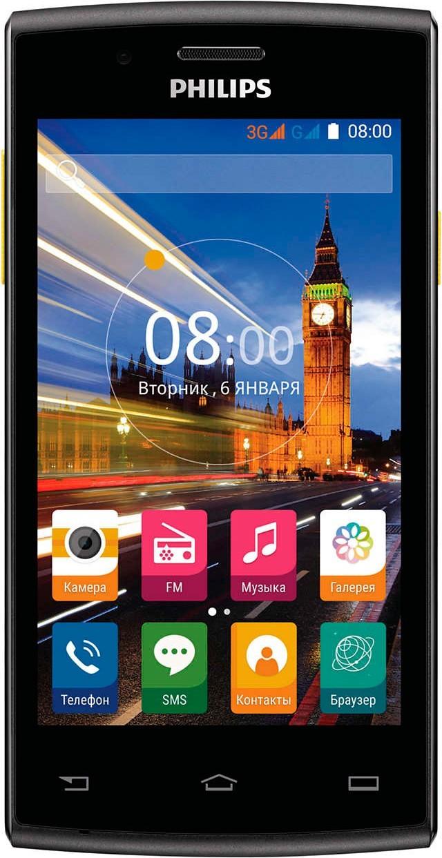 Смартфон Philips S307 Black-Yellow - Фото 1