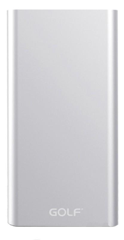 Портативная батарея GOLF Power Bank 5000 mAh Edge 5 Li-pol Silver - Фото 1