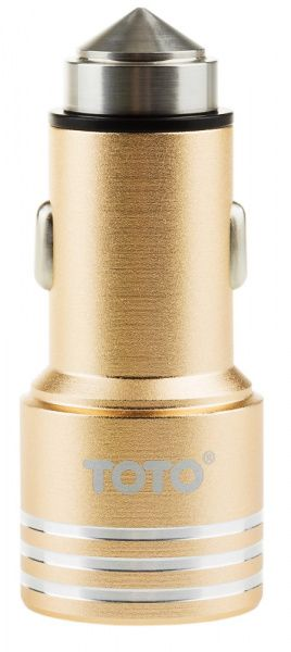 TOTO TZG-04 Car charger 2USB 2,1A Gold