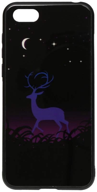 Купить Чехлы для телефонов, TOTO Night Light Print Glass Case Huawei Y5 2018 Deer