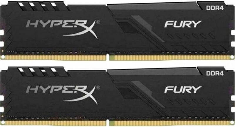 Купить Оперативная память, Kingston 64 GB (2x32GB) DDR4 2666 MHz HyperX Fury Black (HX426C16FB3K2/64)