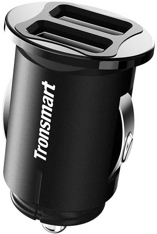Купить Зарядные устройства, Tronsmart C24 Dual USB Port Car Charger Black