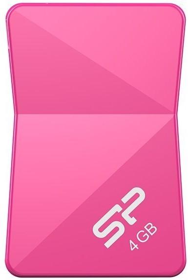 USB Flash Silicon Power Touch T08 4Gb Peach - Фото 1