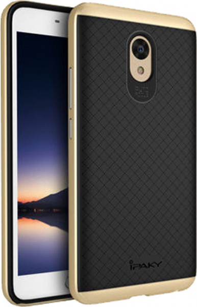 Ipaky TPU+PC Meizu M5 Note Black/Gold - фото