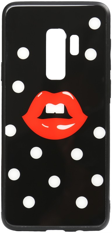 TOTO Cartoon Print Glass Case Samsung Galaxy S9+ Red Lips