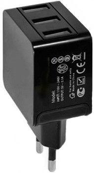 Сетевое зарядное устройстройство Drobak Power Triple 3А 220V-USB Black - Фото 1