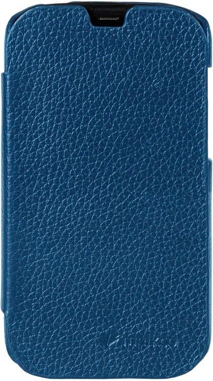 Чехол-флип Melkco Leather Case Jacka для HTC Desire V/X Blue - Фото 1