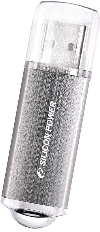 USB Flash Silicon Power Ultima II I-series 16Gb Silver - Фото 1