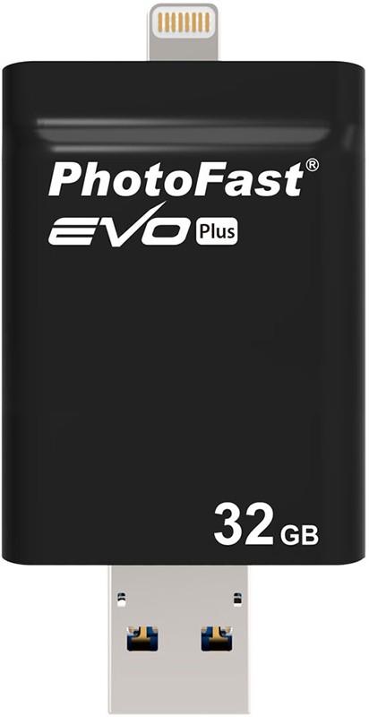 USB Flash PHOTOFAST i-Flashdrive EVO Plus (USB-microUSB/Lightning) 32Gb Black - Фото 1