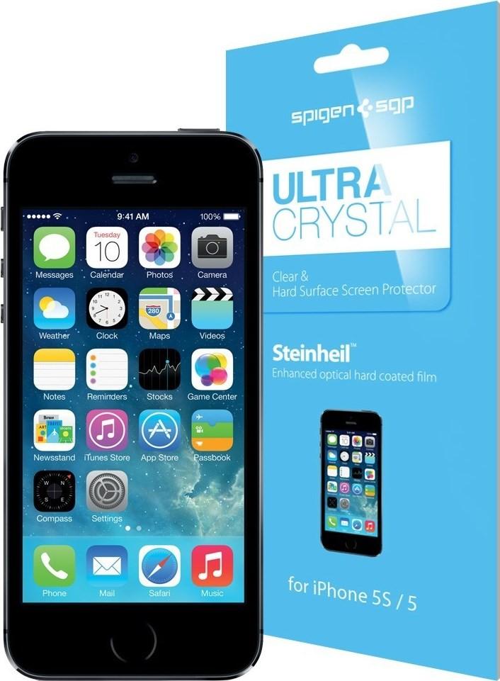 Защитная пленка Spigen iPhone 5/5S/5C 2 шт - Фото 1