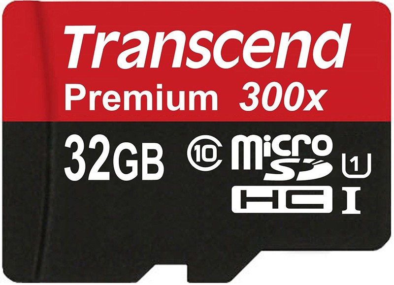 Карта памяти Transcend microSDXC/SDHC Class 10 UHS-I 400x SD adapter 32Gb - Фото 1