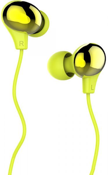 Usams US-SJ063 Color Beans Plating In-ear Earphone Ewave series Green - фото