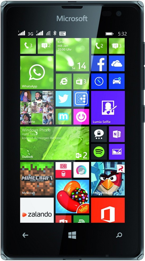 Смартфон Microsoft Lumia 532 Dual SIM Black - Фото 1