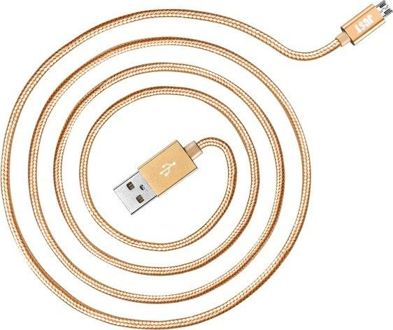 Кабель JUST Cooper Micro USB Cable 2M Gold - Фото 1