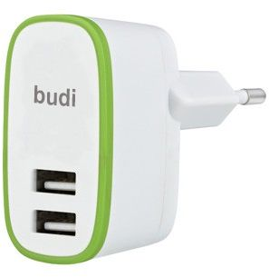 BUDI Travel charger 2USB 2.4A White