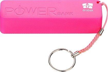 Портативная батарея Drobak Power 1200 mAh/Li-Pol/Pink - Фото 1