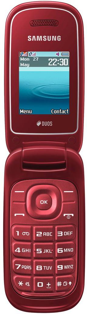 Мобильный телефон Samsung E1272 Red - Фото 1