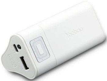 Портативная батарея YOOBAO Power Bank 6600 mah White - Фото 1
