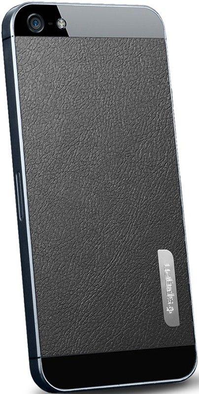 Чехол-накладка Spigen Skin Guard Leather Deep для iPhone 4S Black - Фото 1