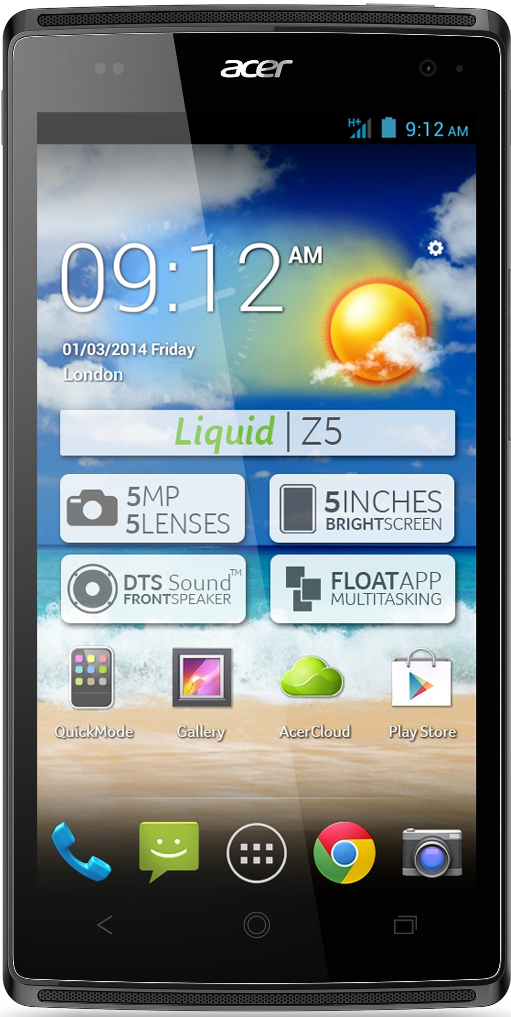 Смартфон Acer Liquid Z5 DualSim Gentle Grey - Фото 1