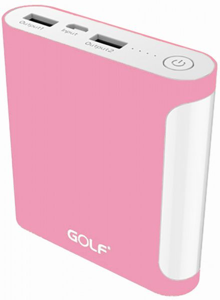 GOLF Power Bank 10000 mAh GF-D14GB 3.1A Li-pol Pink