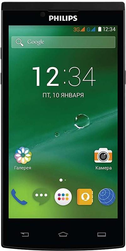 Смартфон Philips Xenium S398 Dual Sim Black - Фото 1