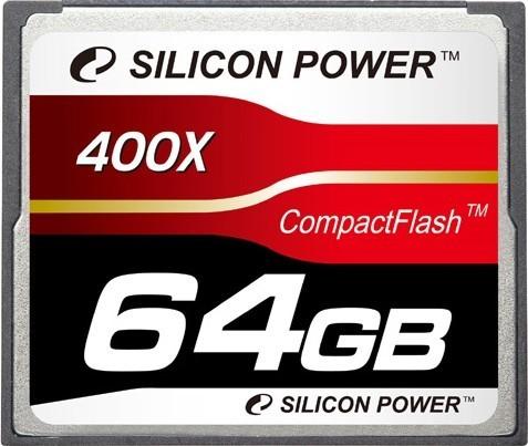 Карта памяти Silicon Power Compact Flash 400x 64Gb - Фото 1