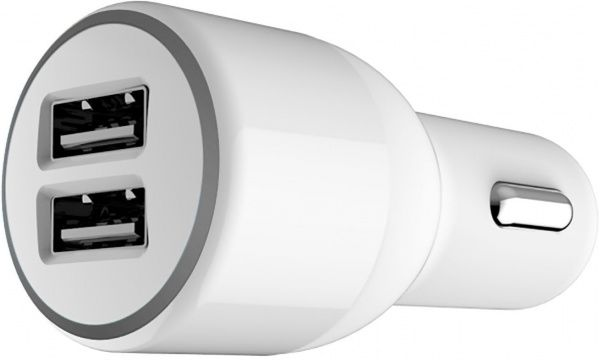 Belkin Car charger 2USB 2.1A Soft White