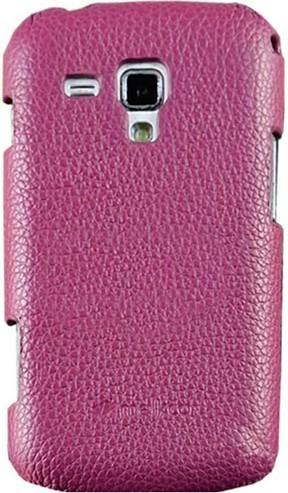 Чехол-накладка Melkco Snap leather cover для Samsung Galaxy Core Duos i8262/i8260 Purple - Фото 1