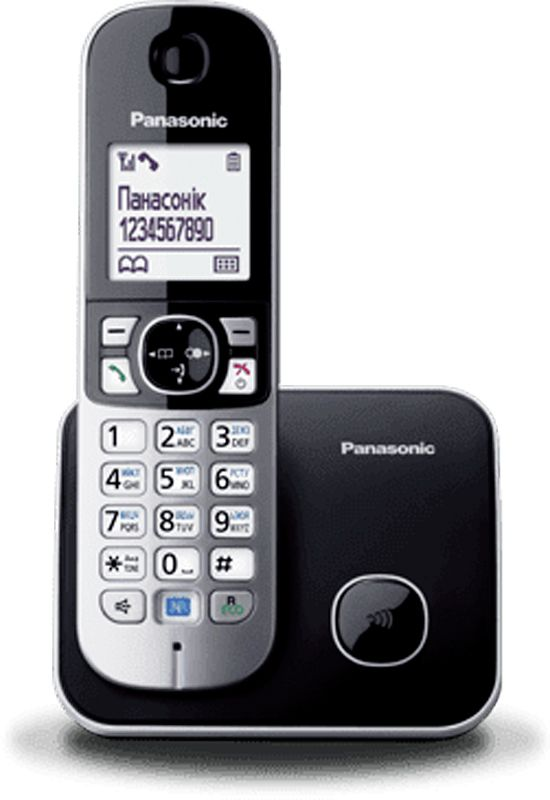 Купить Радиотелефоны, Panasonic KX-TG6811UAB Black