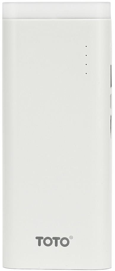 Портативная батарея TOTO TBG-17 Power Bank 12500 mAh 2USB 3,1A Li-Ion White - Фото 1